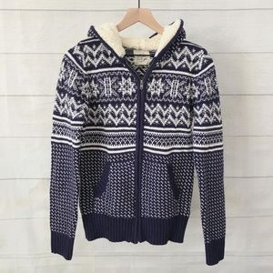 Between Me & You sherpa lined Fair Isle sweater